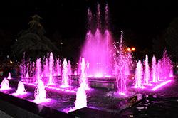 В Евпатории построили светомузыкальный фонтан